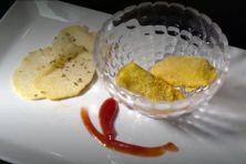 Croustillants de légumes péyi et chips d'igname