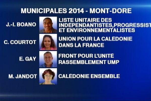 listes candidats Mont Dore