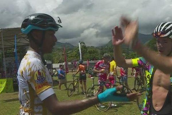 3ème étape du tour de Tahiti et victoire d'Axel Garnier