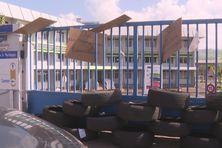 Grève à la CGSS au Lamentin (octobre 2021).