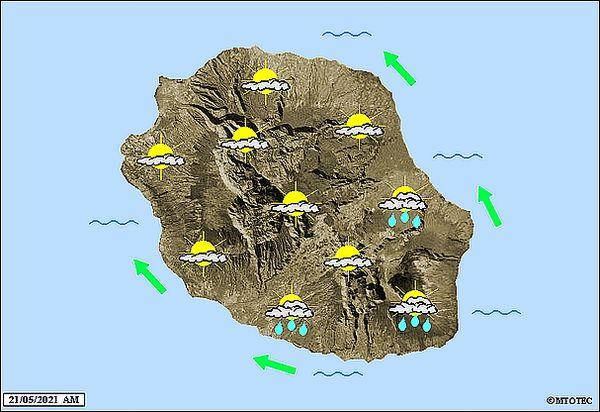 Carte météo 21 mai 2021