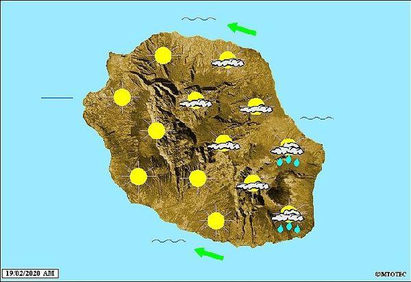 Carte météo 19 février 2020