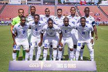Sélection de Martinique de football pour son match face à Haïti (18 juillet 2021).