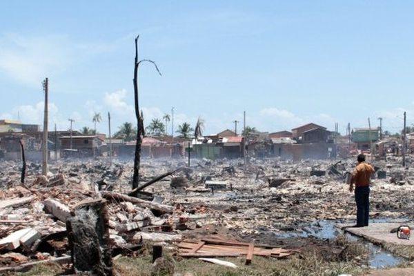 Incendie à Macapa