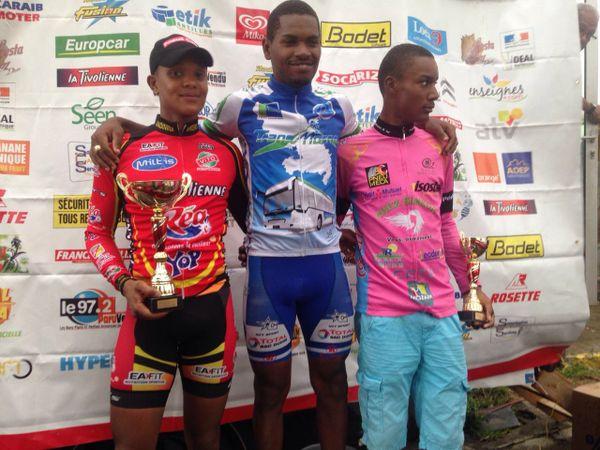 Podium champion de Martinique