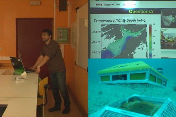 Sébastien Donnet a présenté son travail en matière de courantologie aux élèves du lycée Emile Letournel