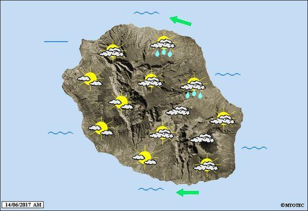 Carte météo 14 juin 2017