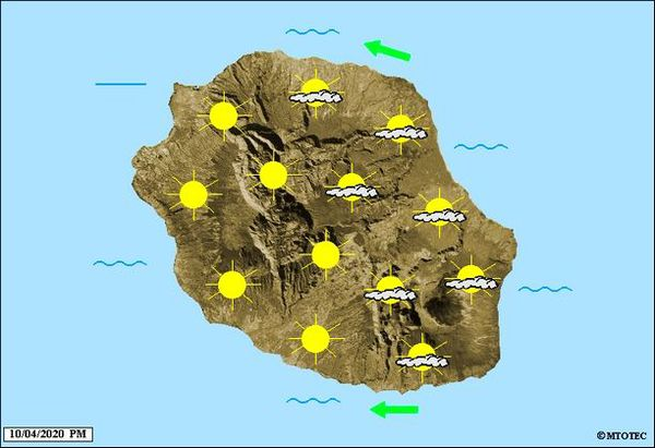 Carte météo 10 avril 2020
