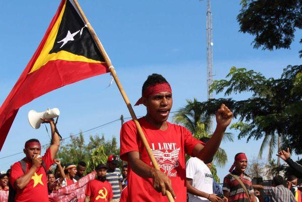 Manifestation au Timor