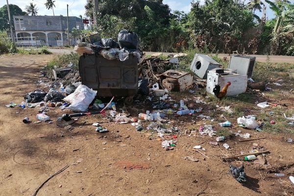 Poubelle, point de collecte déchets, Sidevam 976
