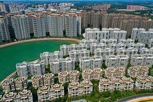 Constructions du géant immobilier chinois Evergrande en Chine