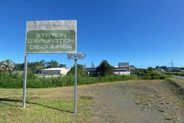 Panneau station d'épuration de Dumbéa, mai 2021