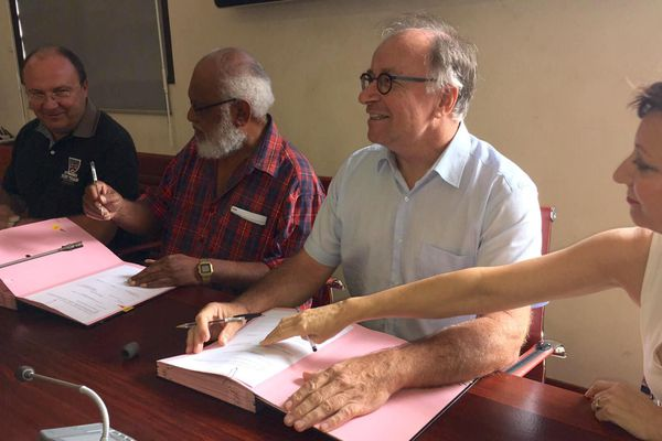Convention de dématérialisation signée à Koné le 21 mai 2019
