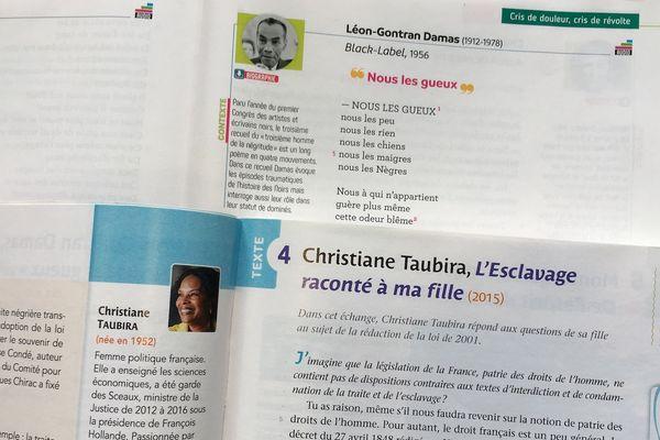 Damas et taubira entrent dans les manuels scolaire