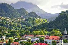 Roseau, la capitale de la Dominique.