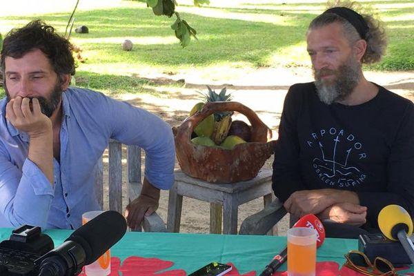 Edouard Deluc, le réalisateur, et Vincent Cassel