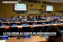 Le comité de décolonisation de l'ONU lors de la séance, où Edouard Fritch et Moetai Brotherson se sont exprimés