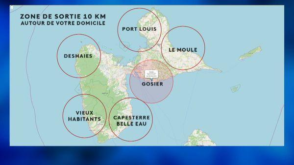 Le site https://www.geoportail.gouv.fr/ pour afficher 10 kilomètres de rayon