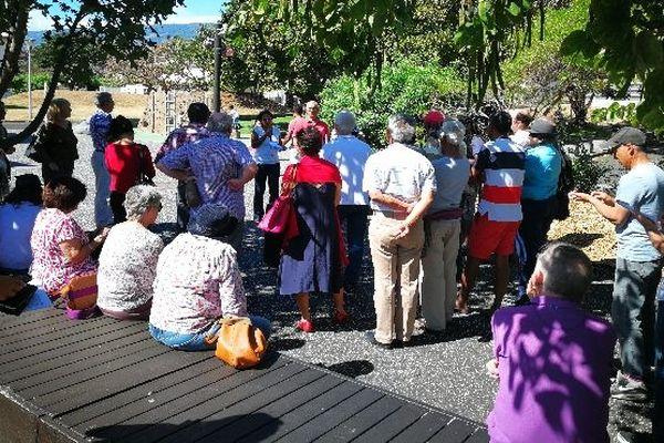 Chagos manifestation sur le parvis des droits de l'homme