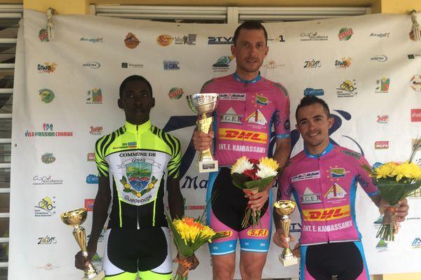 Le podium de la 4ème étape du 43ème Tour Cycliste de Marie-Galante