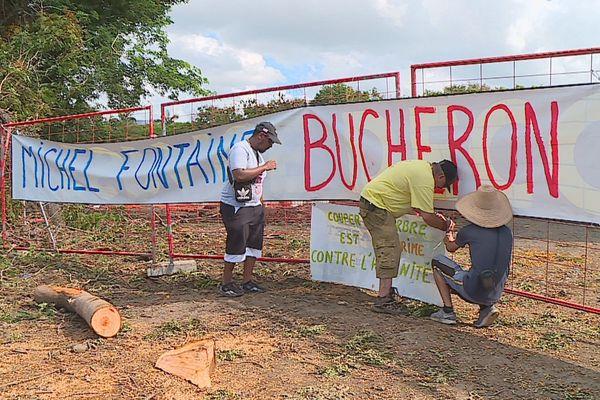 Manifestation contre l'abattage d'arbres à Casabona
