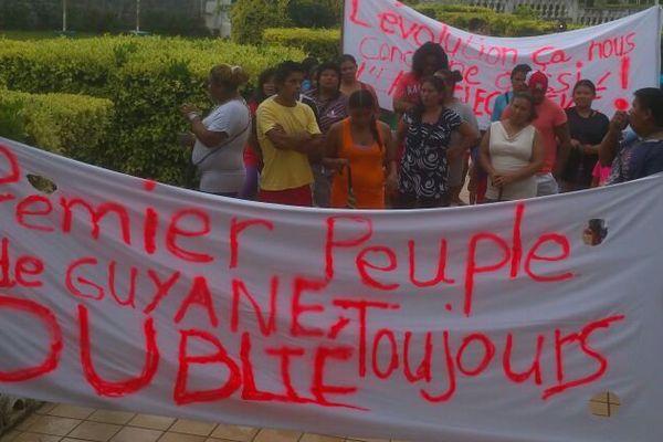 Manifestation à Roura