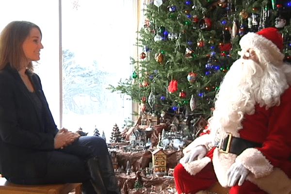 Renocntre avec le Père Noel à Saint-Pierre er Miquelon