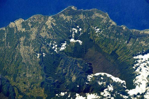 La Réunion vue de l'espace par Thomas Pesquet