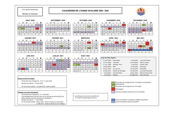 Calendrier Année Scolaire 2021 2022 Découvrez les calendriers scolaires jusqu'en 2023   Polynésie la 1ère