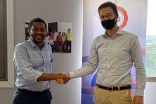 Signature du partenariat entre @972Digitale et @AFD_France qui soutient le projet via le FondsOutremer.