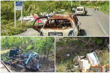 Exemple de déchets et dépôts sauvages (image d'illustration)