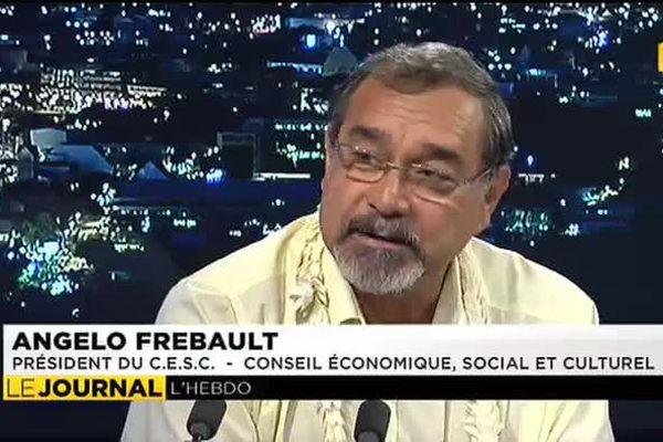 Angelo Frebault, président du C.E.S.C était l'invité du journal ( Conseil économique, social et culturel)