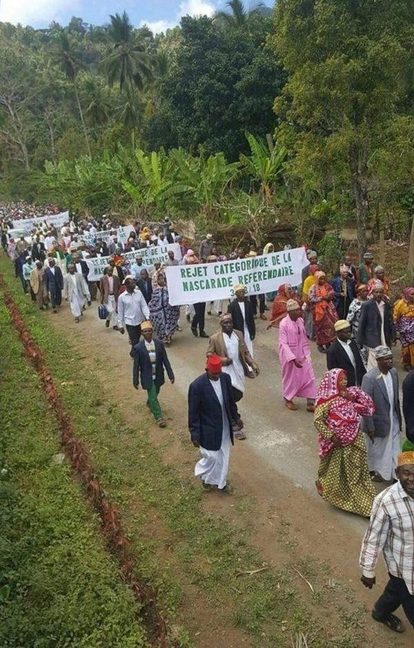 Anjouan manifestation du 23 août 2018