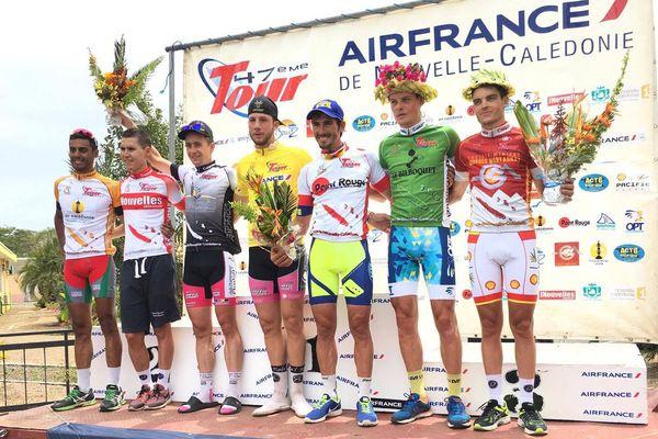 Podium 4eme etape tour cycliste