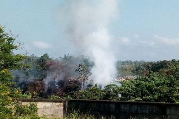 Décharge de Maripa-Soula en feu