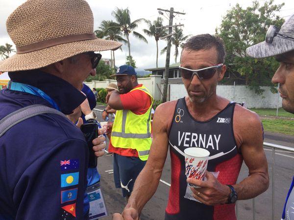 Samoa 2019, Patrick Vernay troisième du triathlon