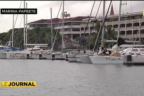 La marina de Papeete fait le plein de yachts