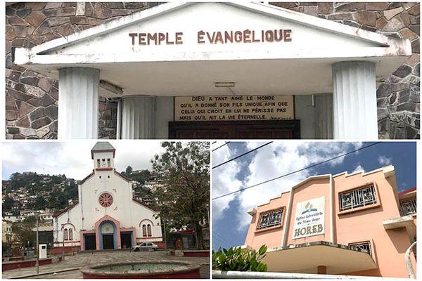 Temple et église