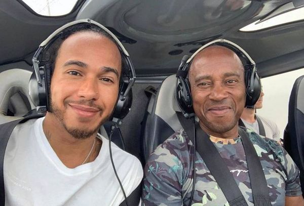Lewis Hamilton et son pere