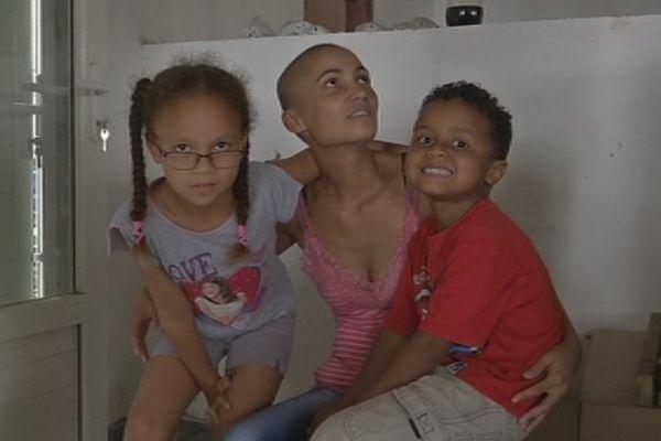 Vanessa Dijoux et ses enfants
