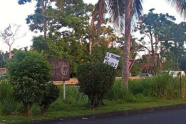 Pancarte à Saint-André