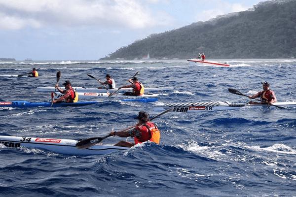 Le Maraamu surf ski 2017 dans les starting blocks