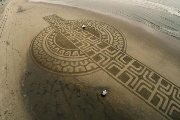 Art Dutch beach art
