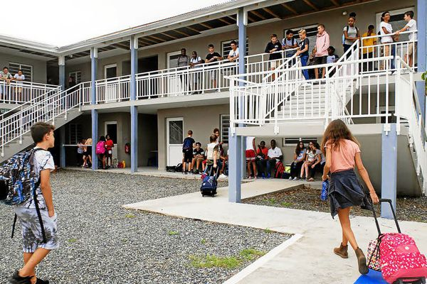 Retour à l'école pour les élèves de Saint Martin