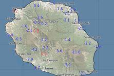 Les températures relevées à 9h ont généralement perdu 2 à 3°C par rapport à la même heure hier. Au Pas de Bellecombe-Jacob, on a même perdu 11°C sur ces dernières 24h avec la remontée temporaire de l'inversion.
