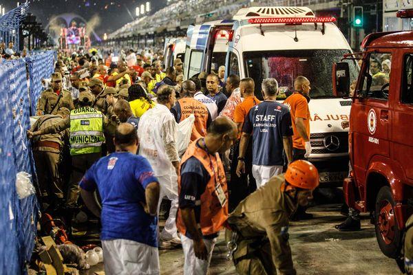 Dimanche 26 février, le dernier char de la première école de samba, Paraiso do Tuiuti, a blessé au moins 20 personnes