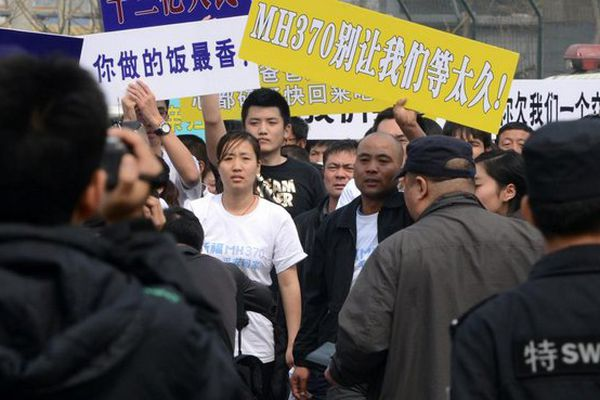 Familles chinoises des victimes du MH370