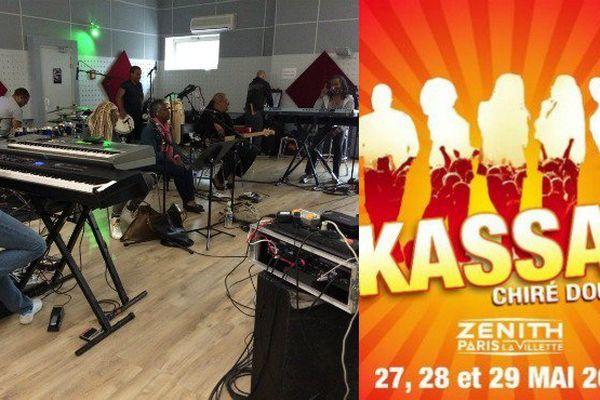 Répétitions du groupe Kassav, studio Planet Live