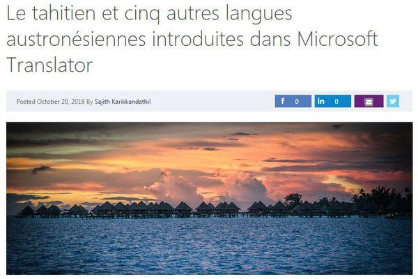 Microsoft Translator annonce l'ajout de 6 nouvelles langues