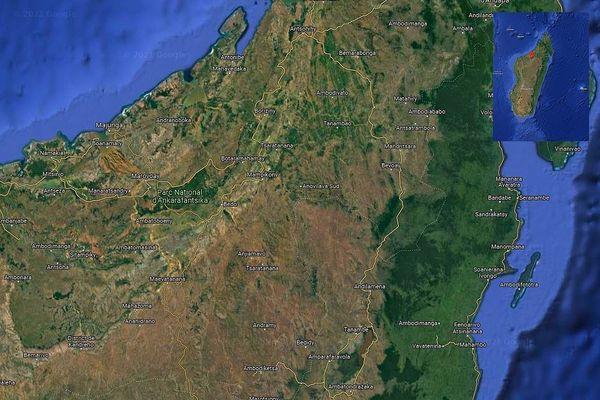 Carte Madagascar région de Boeny parc National d'Région Boeny  Ankarafantsika sept 2021